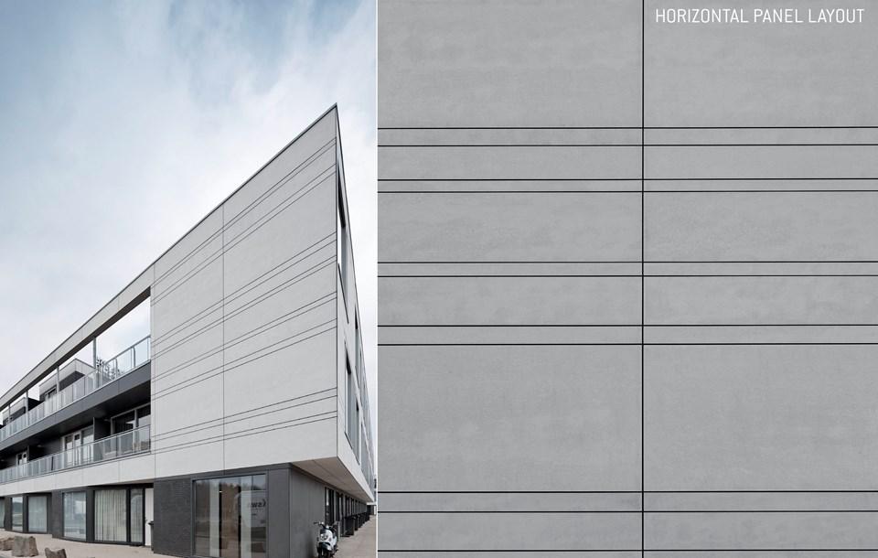 Guida progettazione EQUITONE, esempio disposizione orizzontale pannelli