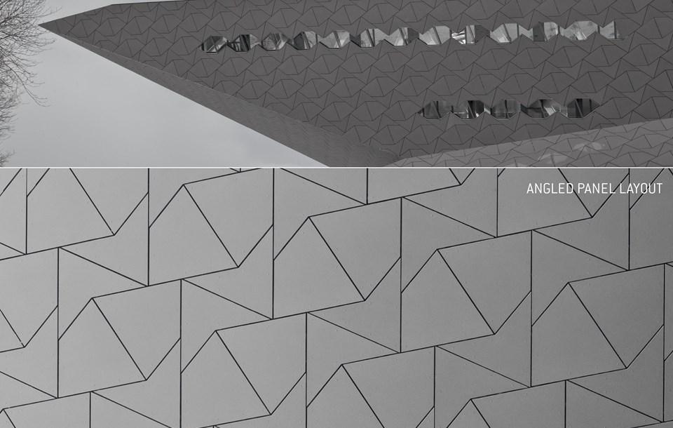 Guida progettazione EQUITONE, esempio disposizione ad incastro pannelli