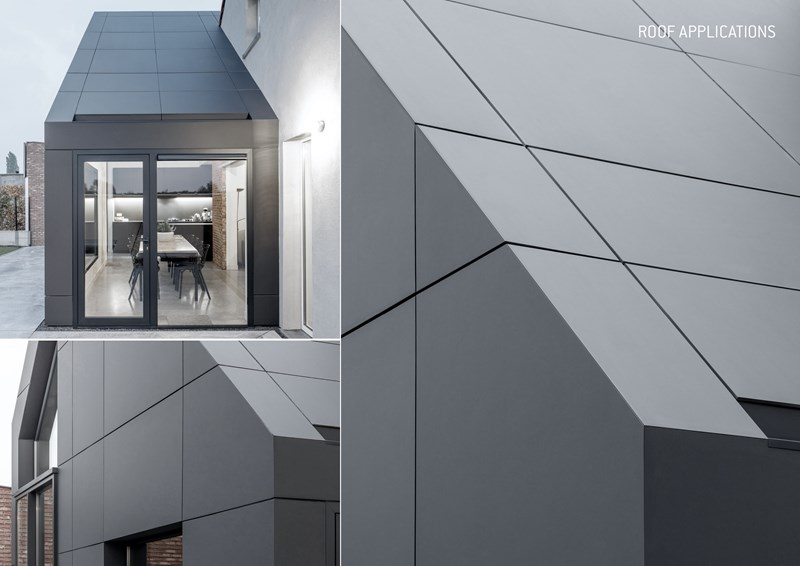 Guida progettazione EQUITONE, esempio utilizzo in copertura, sul tetto pannelli